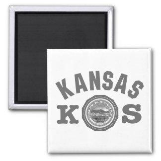 Kansas Seal Square Magnet