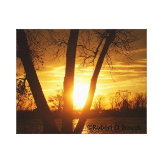 Kansas  Silhouette Sunset, Canvas