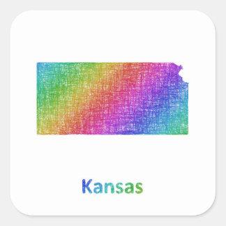 Kansas Square Sticker