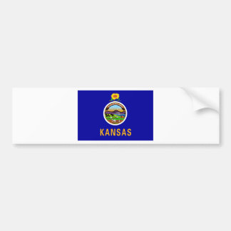 Kansas State Flag Bumper Sticker