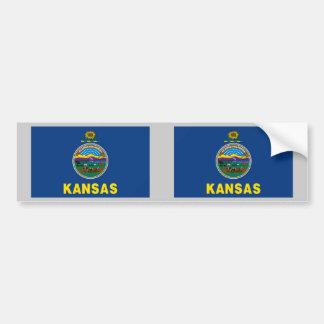 Kansas State Flag Bumper Sticker