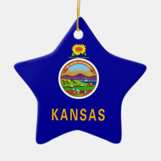 Kansas State Flag Ceramic Ornament
