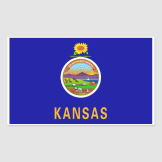 Kansas State Flag Sticker - 4 per sheet