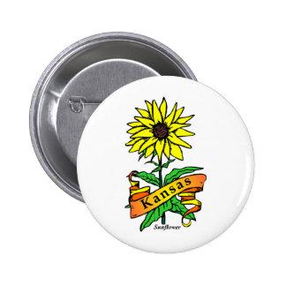 Kansas State Flower Pinback Buttons