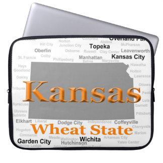 Kansas State Pride Map Computer Sleeves