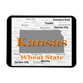 Kansas State Pride Map Magnet