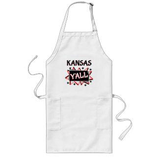 Kansas State Pride Y'all Long Apron