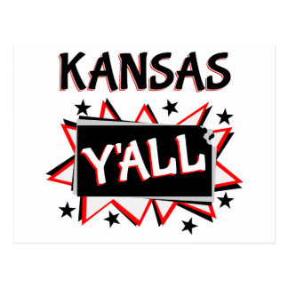 Kansas State Pride Y'all Postcard
