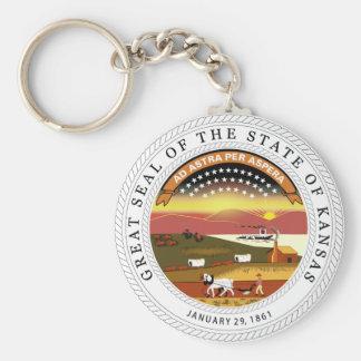 Kansas State Seal Key Ring
