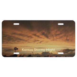 Kansas Stormy Night CAR TAG License Plate