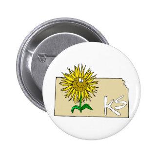 Kansas Sunflower Pinback Button