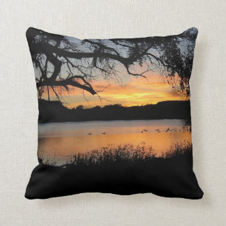 Kansas Sunset at Lake Scott State Park Cushion