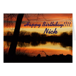 Kansas Sunset Reflection Birthday Card