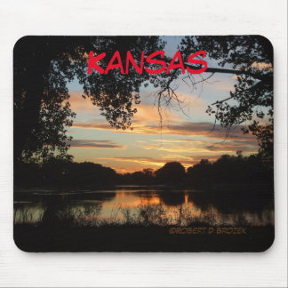 Kansas Sunset Reflection Mouse Pad. Mouse Pad