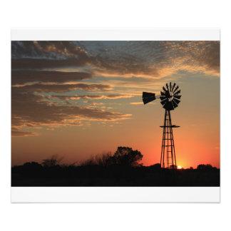 Kansas Sunset Silhouette Photo Enlargement
