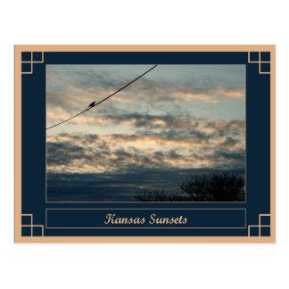 Kansas Sunsets Postcard