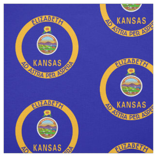 Kansas The Sunflower State Personalized Flag Fabric