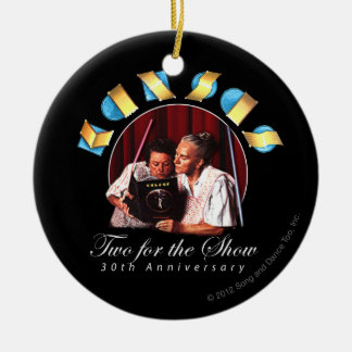 KANSAS - Two for the Show (Anniversary) Round Ceramic Decoration