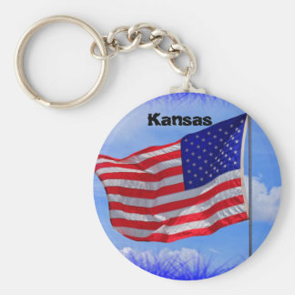 Kansas US Flag Key Chain