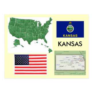 Kansas, USA Postcard