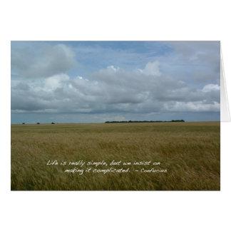 Kansas Wheat Field Card