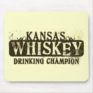 Kansas Whiskey Drinking Champion Mouse Mats