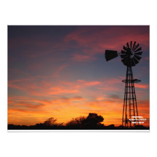 Kansas Windmill Silhouette Photo