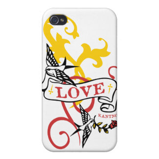 Kantno Bird Scroll - iPhone 4/4s iPhone 4 Cover