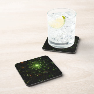 Kaos Entwined Flame Fractal Beverage Coasters