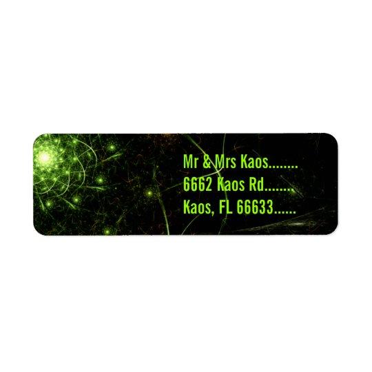 Kaos Entwined Flame Fractal Return Address Label