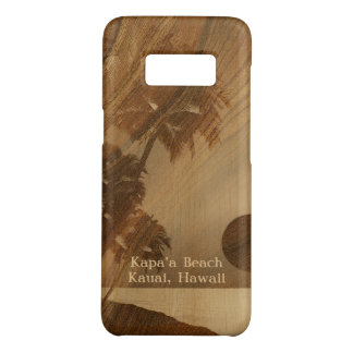 Kapaa Sunset Hawaiian Faux Koa Wood Case-Mate Samsung Galaxy S8 Case