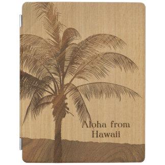 Kapaa Sunset Hawaiian Faux Koa Wood iPad Covers iPad Cover
