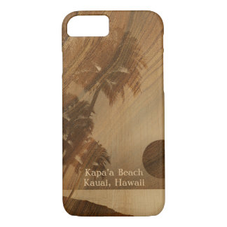 Kapaa Sunset Hawaiian Faux Koa Wood iPhone 8/7 Case
