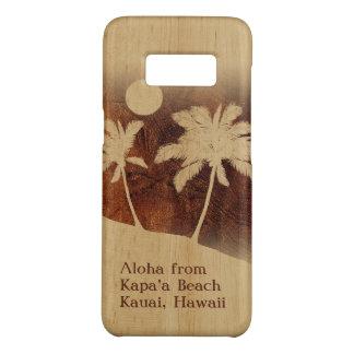 Kapaa Sunset Hawaiian Faux Koa Wood Twin Palm Case-Mate Samsung Galaxy S8 Case