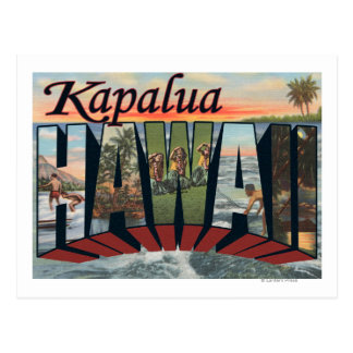 Kapalua, Hawaii - Large Letter Scenes Postcard