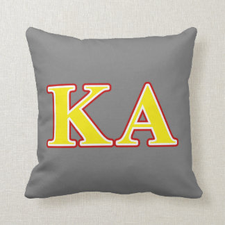 Kappa Alpha Order Red and Yellow Letters Cushion