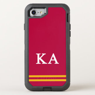 Kappa Alpha Order | Sport Stripe OtterBox Defender iPhone 8/7 Case