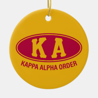 Kappa Alpha Order | Vintage Ceramic Ornament