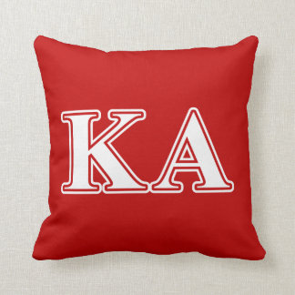 Kappa Alpha Order White and Red Letters Cushion