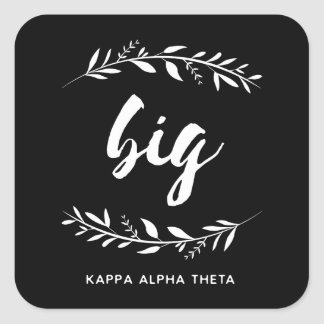 Kappa Alpha Theta | Big Wreath Square Sticker
