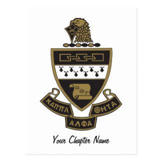 Kappa Alpha Theta Coat of Arms: Color Postcard