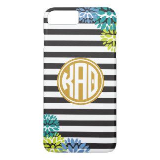 Kappa Alpha Theta   Monogram Stripe Pattern iPhone 8 Plus/7 Plus Case