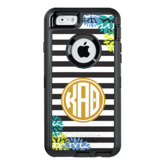 Kappa Alpha Theta   Monogram Stripe Pattern OtterBox Defender iPhone Case