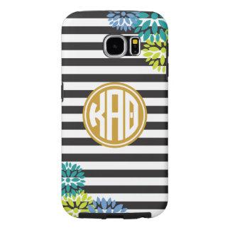 Kappa Alpha Theta   Monogram Stripe Pattern Samsung Galaxy S6 Cases