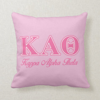 Kappa Alpha Theta Pink Letters Cushion