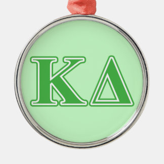 Kappa Delta Green Letters Metal Ornament
