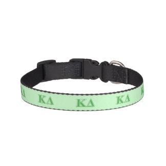 Kappa Delta Green Letters Pet Collar