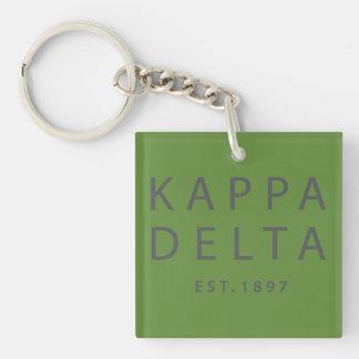 Kappa Delta Modern Type Key Ring