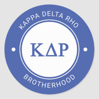 Kappa Delta Rho | Badge Classic Round Sticker