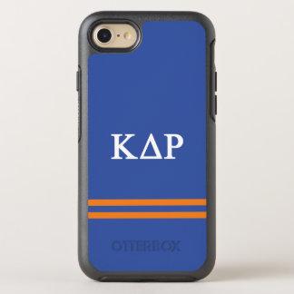 Kappa Delta Rho   Sport Stripe OtterBox Symmetry iPhone 7 Case